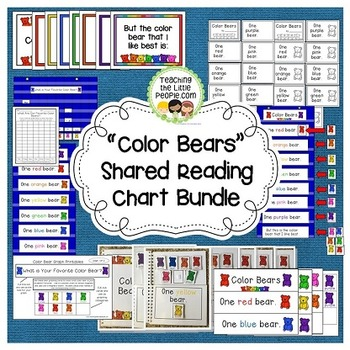 Color Bears Shared Reading Chart Bundle Image