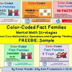 Color Coded Fact Families Mental Math Strategies Common Co