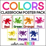 COLORS Poster Pack for the Chevron Chic Classroom