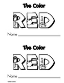 Color Red Emergent Leveled Reader Book * Perfect for Read to Self