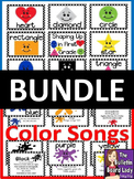 Color Songs and Shapes Bulletin Board Kits BUNDLE