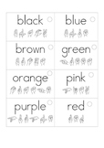 Color Word Flash Cards with ASL spelling