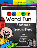 Color Word Fun-Literacy and Math Activities