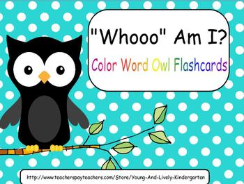 Color Word Owl Flashcards & Emergent Reader