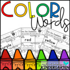 Color Words (Sight Word Printables) FREEBIE