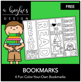 Color Your Own Bookmark {FREEBIE}