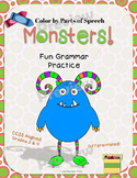 Color by Parts of Speech Monsters (Grammar Skills)