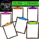 Colored Clipboard Clipart {Creative Clips Digital Clipart}