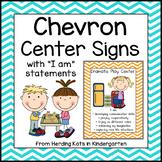 Colorful Chevron Center Signs