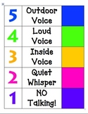 Colorful Noise Level Chart