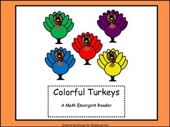 Colorful Turkeys Math Emergent Reader