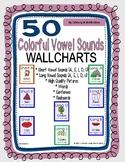 Colorful Vowel Sounds Charts