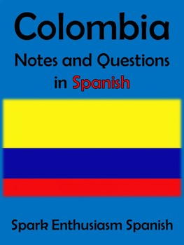 Colombia Notes and Questions in Spanish