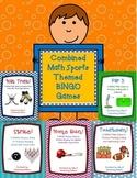 Math Sports Themed BINGO Games: Bundled Set