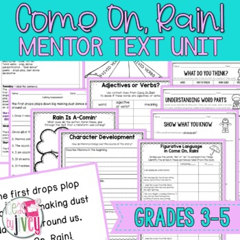 Come On, Rain! Mentor Text Unit