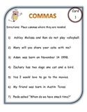 Comma Center Cards