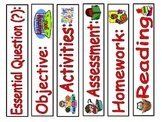 Common Board labels for Kindergarten