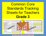 Tracking Sheets (EDITABLE) Common Core 3rd Grade Math by D
