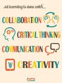 Common Core 4Cs Poster (21st Century Skills) [Physical Copy]