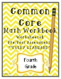 Common Core 4th (Fourth) Grade Workbook- Worksheets and As