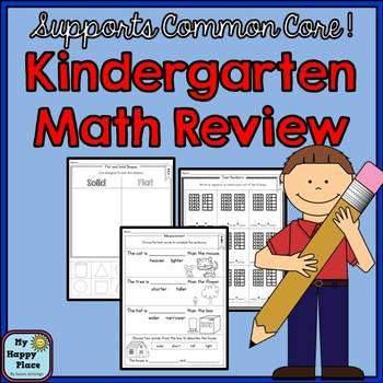 Common Core Aligned Kindergarten Math Review & Assessment