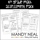 Common Core Assessment Pack-Math Grade 4