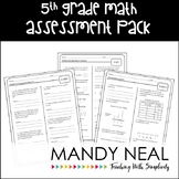 Common Core Assessment Pack-Math Grade 5