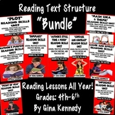 Reading Text Structure Lessons For the Entire Year!  BUNDLE!