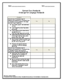 Common Core Checklists (Language, Listening, & Speaking) K-5