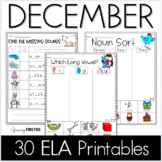 Common Core Crunch - December - ELA CCSS Printables - Grow