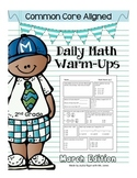 Common Core Daily Math Warm Ups - 2nd Grade March