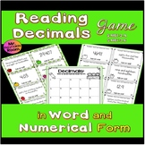 Common Core: Decimal Tug-of-War (Reading Decimals in Word
