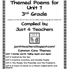 Common Core ELA-3rd Grade Unit 1 Suggested Poems