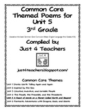 Common Core ELA-3rd Grade Unit 5 Suggested Poems