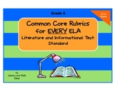 Common Core ELA Rubrics:  Grade 6