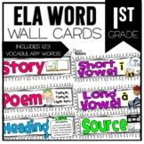 Common Core ELA Vocabulary Cards for 1st Grade