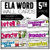 Common Core ELA Vocabulary Cards for 5th Grade