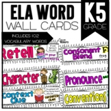 Common Core ELA Vocabulary Cards for Kindergarten