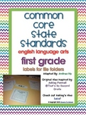 Common Core English Language Arts File Folder Labels (FIRS