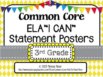 Common Core English Language Arts I CAN Posters - 3rd (Thi
