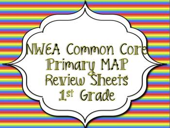 Common Core First Grade Math Reviews for MAP testing