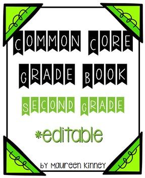 Common Core Grade Book 2nd Grade *Editable