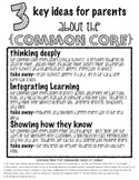 Common Core Handout for parents
