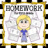 Common Core Homework for Fifth Grade
