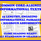 Common Core Informational Passages and Assessment Collecti