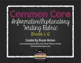 Common Core Informative Explanatory Writing Rubric Grades 6-12