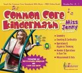 Common Core Kindergarten Math Music CD / 30 Songs, 57 P. B