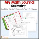 Kindergarten Geometry Journal Aligned to CC