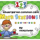 Common Core Kindergarten Math Stations