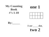 Common Core Kindergarten #'s 1-10 Reproducible Book FREEBIE